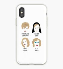 The faces of Jessica Lange iPhone Case