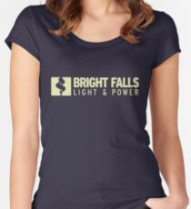 Bright Falls Light & Power Women's Fitted Scoop T-Shirt