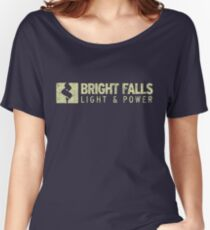 Bright Falls Light & Power (Grunge) Women's Relaxed Fit T-Shirt