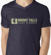 Bright Falls Light & Power (Grunge) Men's V-Neck T-Shirt