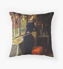 Mariana - John Everett Millais - 1851 Throw Pillow