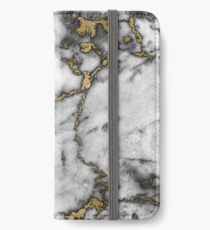 Grey marble gold streaks phone case cover iPhone Wallet/Case/Skin