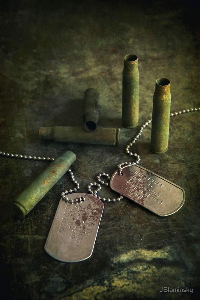 Bullets and dogtags by JBlaminsky