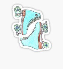 RETRO ROLLER BLADES Sticker