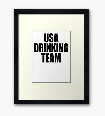 USA Drinking Team [Black] Framed Print