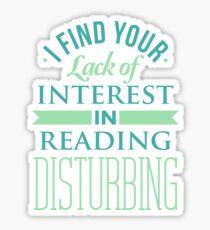 Reading T-shirt Sticker