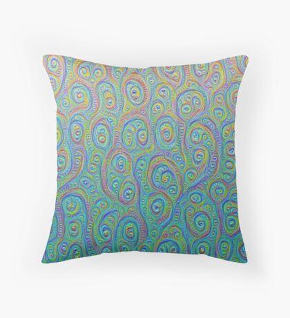 Underwater flowers #DeepDream #Art Throw Pillow