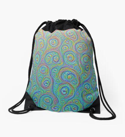 Underwater flowers #DeepDream #Art Drawstring Bag