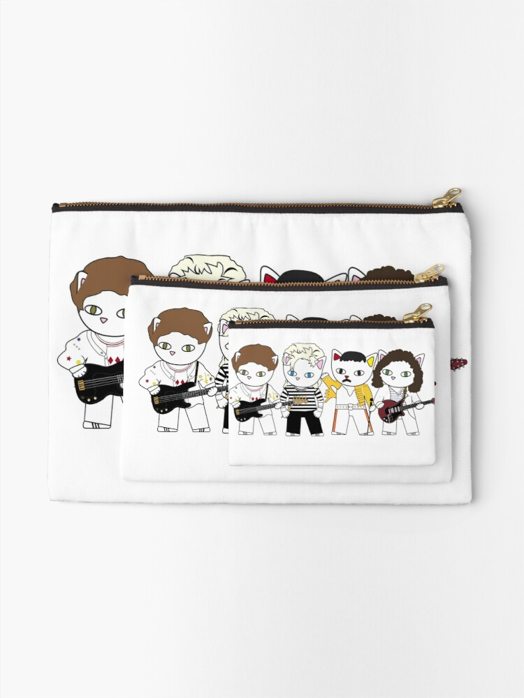 Alternate view of Meow rock band Zipper Pouch