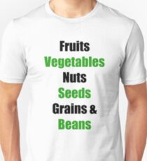 Vegan Food Groups Pyramid T-Shirt