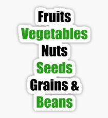 Vegan Food Groups Pyramid Sticker