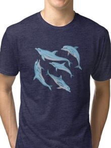 A story about dolphins 3 Tri-blend T-Shirt