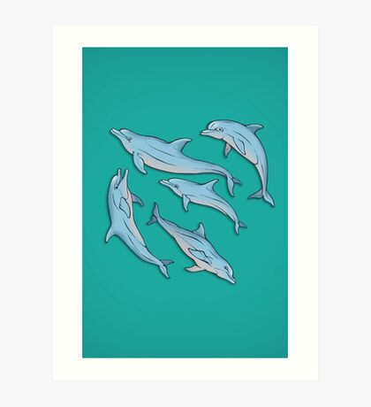 A story about dolphins 3 Art Print