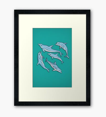 A story about dolphins 3 Framed Print