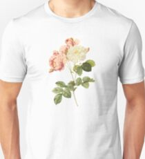 White and pink rose Unisex T-Shirt