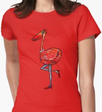 Flamingo Fashionista Womens Fitted T-Shirt