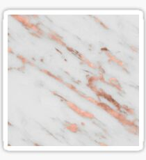 Marble - Rose Gold Marble with White Gold Foil Pattern Sticker
