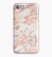 Marble - Pink Rose Gold Marble White Metallic iPhone Case/Skin