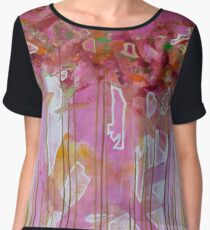 Dripping Trees Chiffon Top