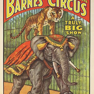 cartel de circo de animales salvajes de richiedhood
