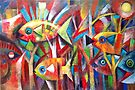Abstract fish  by Karin Zeller