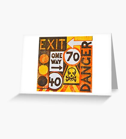 Sign Board Greeting Card