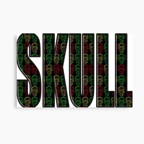Skull spelled for you Canvas Print