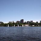 Boston and the boats from the river by Ilan Cohen
