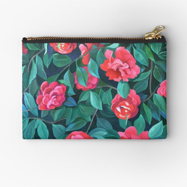 """""""Camellias, lips and berries"""" Zipper Pouch"""