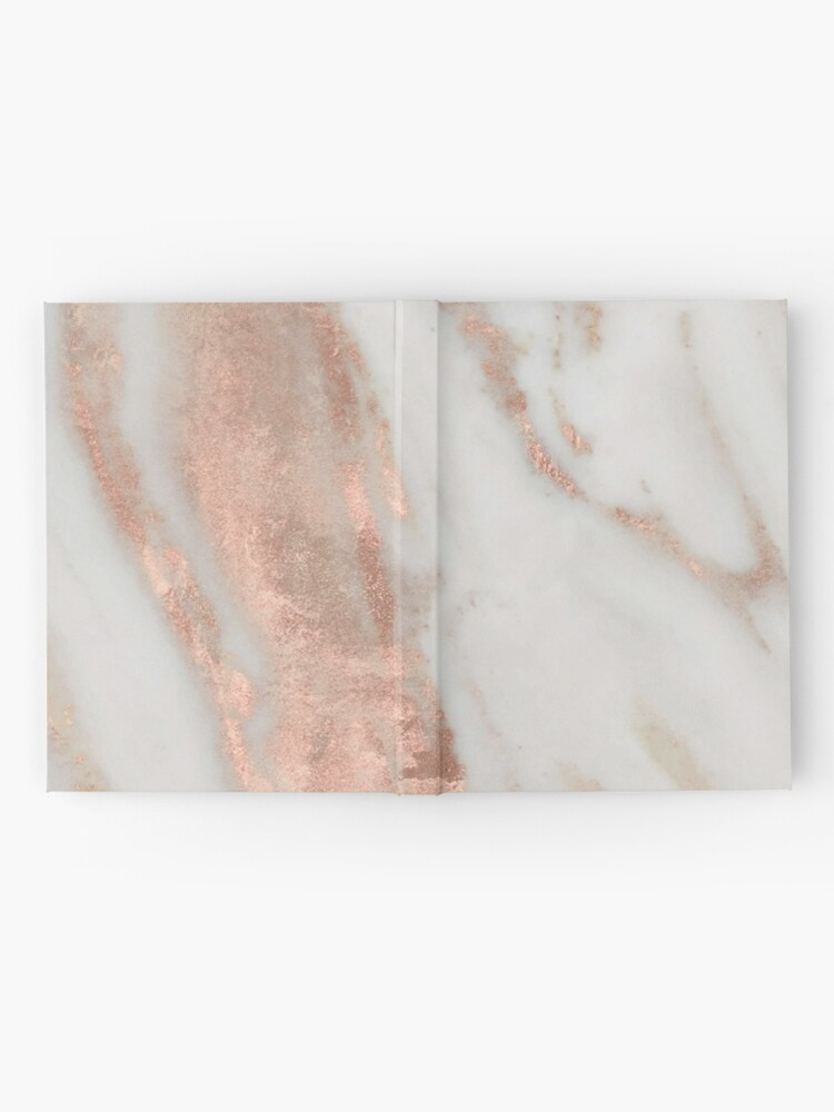 Alternate view of Marble - Rose Gold Shimmery Marble Hardcover Journal