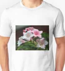 White pink flowers. Unisex T-Shirt