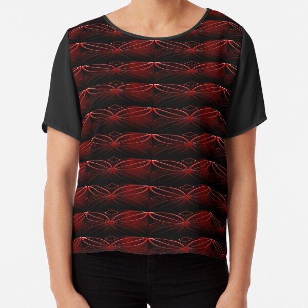 Red Symbol Chiffon Top