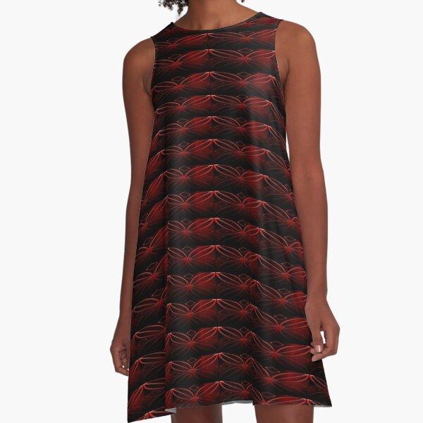 Red Symbol A-Line Dress
