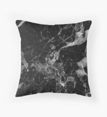 Black and White Marble Pattern Throw Pillow