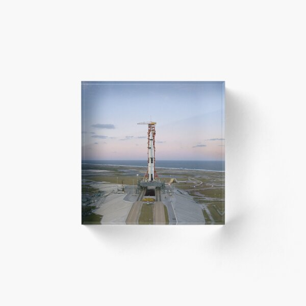 High-angle view of the Apollo 8 spacecraft on the launch pad. Acrylic Block
