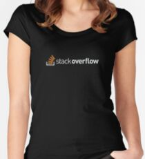 Stackoverflow extended Women's Fitted Scoop T-Shirt