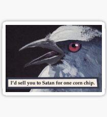 Satanic Bird Quote Sticker