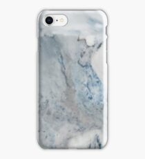 Cyan Blue Marble iPhone Case/Skin