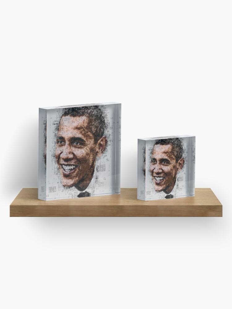 Alternate view of Obama Acrylic Block