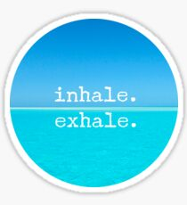 Meditation Quote - Mindful Wall Art Inhale Exhale Sticker
