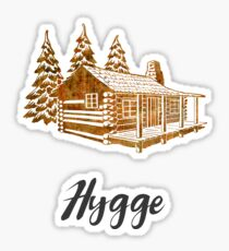 Hygge Design of a Cosy Cabin by Woodland Doodles Sticker