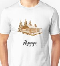 Hygge Design of a Cosy Cabin by Woodland Doodles Unisex T-Shirt