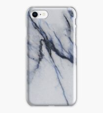 Marble - Blue and Black Marble Crackle iPhone Case/Skin