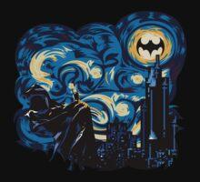 Dark Blue Starry Knight Abstract   Unisex T-Shirt