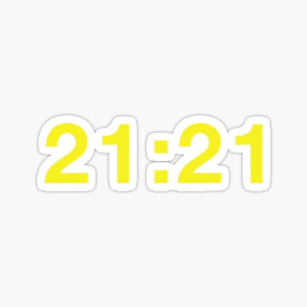21:21 Sticker