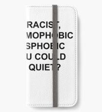 Vinilo o funda para iPhone POR QUÉ SEA RACISTA, SÓLO ES SILENCIOSO.