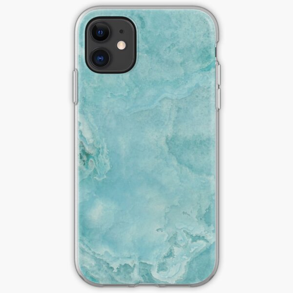 Turquoise Sea Marble iPhone Soft Case