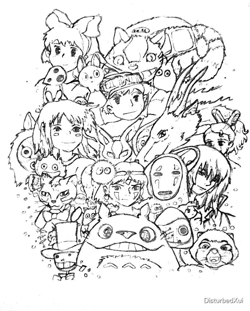 """Studio Ghibli Collage"" by DisturbedXui | Redbubble"