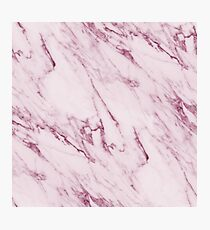 Marble Texture - Mauve Pink Marble Photographic Print