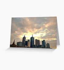 Majestic Imposing Melbourne Greeting Card